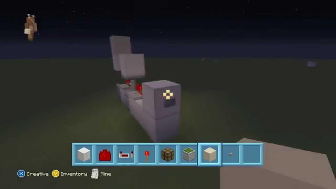 Button Light Switch Tutorial On Minecraft