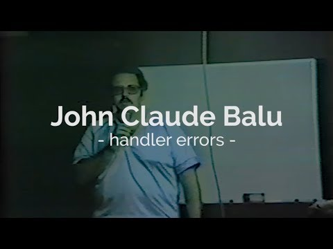Handler Errors Schuthund Trial John Claude Balu - 1