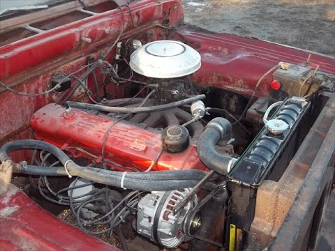 Classic Truck Slant 6 Engine Bay Area, lastchanceautorestore com