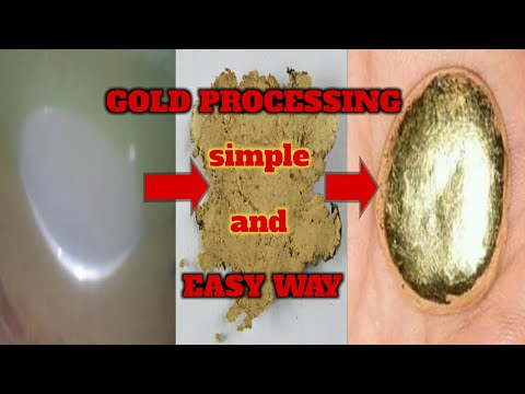 GOLD PROCESSING SIMPLE AND EASY WAY STEP BY STEP   GOLD PROCESSING MERCURY METHOD