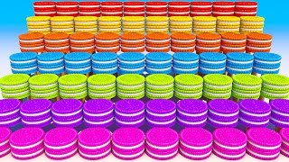 Teach Colors with 3D Cookies Wall for Kids and Children