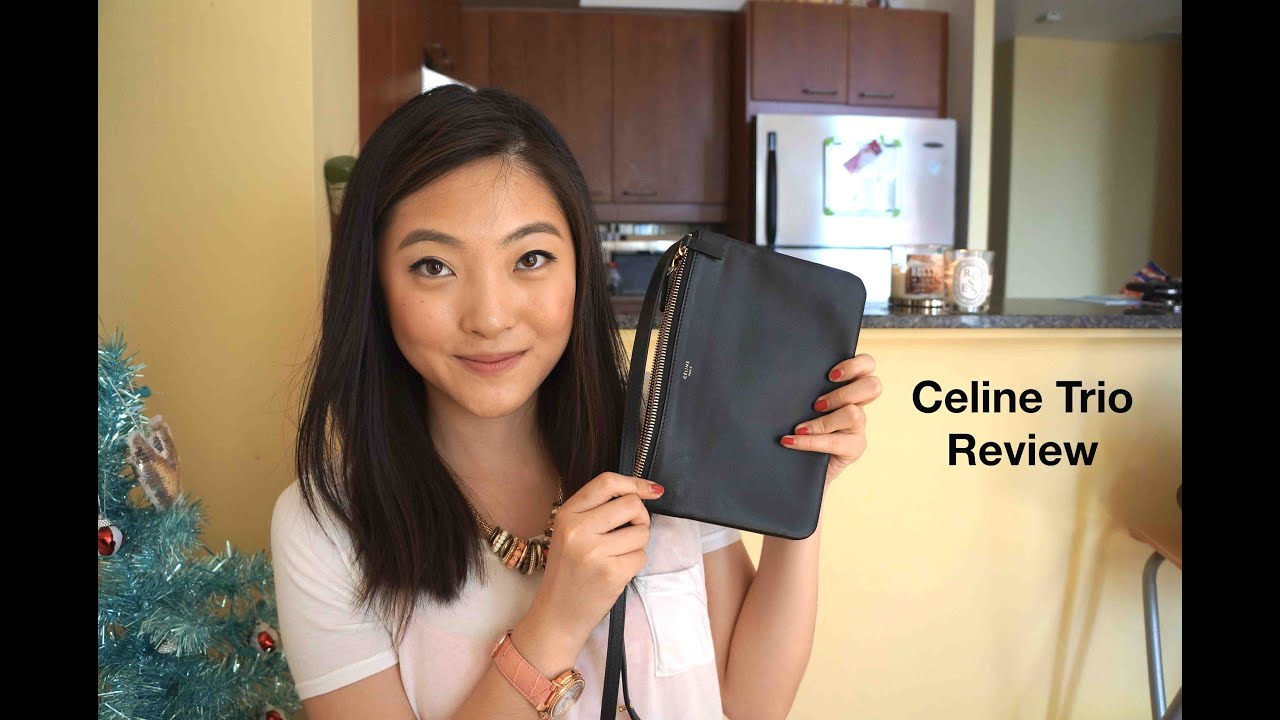 Celine Trio bag review - YouTube