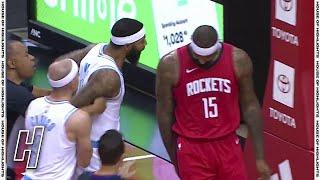 DeMarcus Cousins & Markieff Morris SCUFFLE - Lakers vs Rockets | January 10, 2020-21 NBA Season