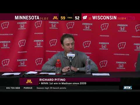 Press Conference: Richard Pitino on Gophers' 59-52 Win at Wisconsin