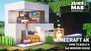 Minecraft: 5X5 Modern Hoขse Tutorial - How to Build a House in Minecraft #121