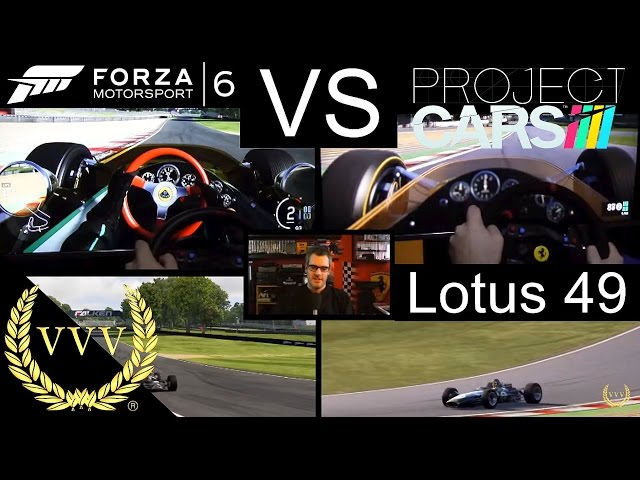 Forza 6 Vs Project Cars Lotus 49