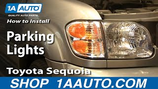 How To Install Replace Parking Lights Toyota Sequoia 01-04 1AAuto.com