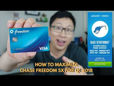 How to Maximize the Chase Freedom 5x Bonus for Q1 2018