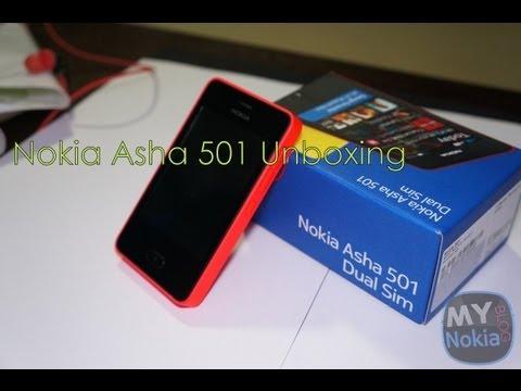 Nokia Asha 501 Unboxing (Dual Sim)