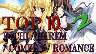 Top 10 Ecchi / Harem / Comedy / Romance - Animes [NEW] [HD]