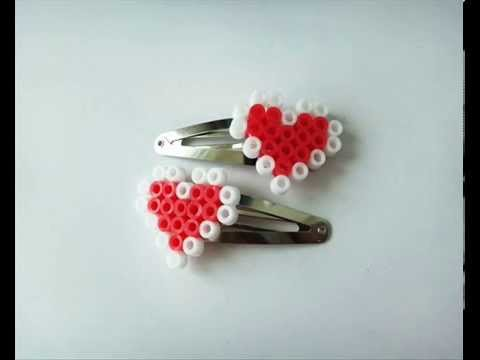 Heart Pixel Hair Clips Tutorial