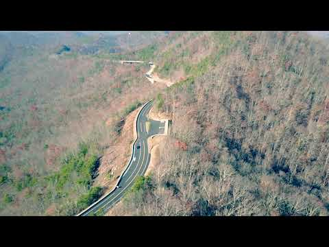 Foothills Parkway (new section 2018) Drone