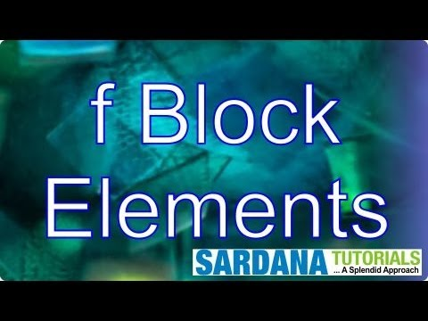 F block elements youtube urtaz Choice Image