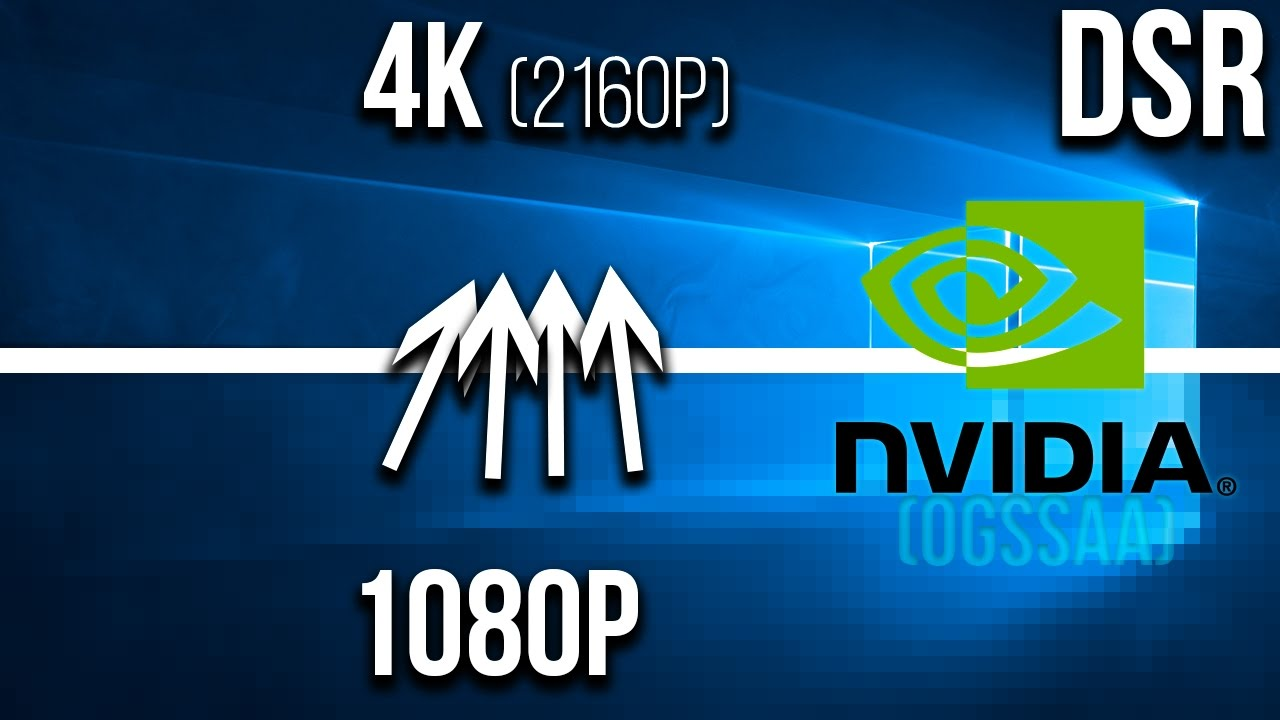 4k on 1080p Monitor via Nvidia DSR | OGSSAA (with Cursor FIX)