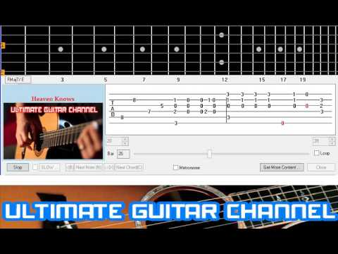 Guitar Solo Tab Heaven Knows Rick Price Youtube