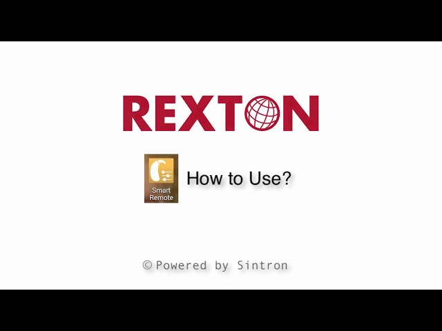 Rexton Smart Remote App - How to Use