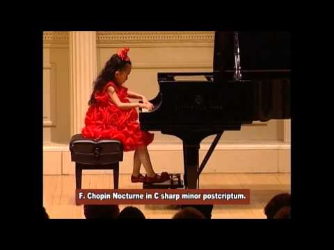 Harmony Zhu (age 7) - Carnegie Hall, Chopin Nocturne No. 20 in C sharp Minor, Posthumous