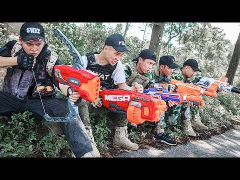 Foxall Nerf War:  Foxall Warriors Nerf Guns Fight Attack Criminal Group Skills Mega Nerf Guns