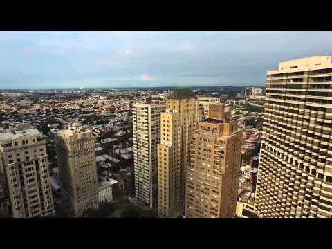Rising Over Rittenhouse Square, Philadelphia by Drone - 4k
