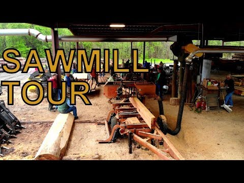 ONE OF THE BEST SAWMILL SET UPS I HAVE SEEN, AMAZING FAST CUTTING WOOD MACHINES