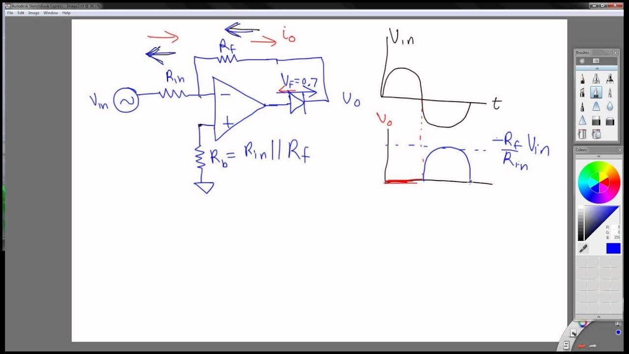 Basic Diode Half Wave Rectifier Circuit