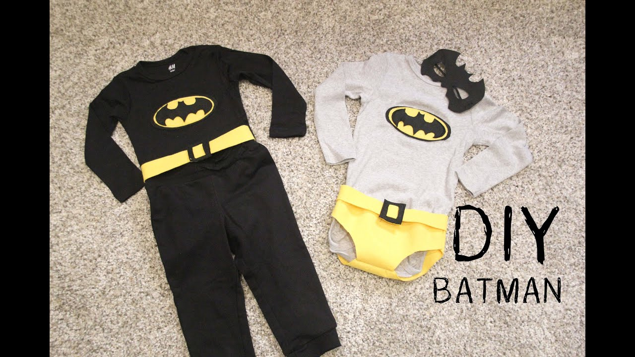 Diy Como Hacer Disfraz De Batman Para Ninos Youtube - Como-hacer-un-disfraz-casero