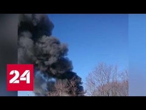 В Новой Москве сгорел склад стройматериалов