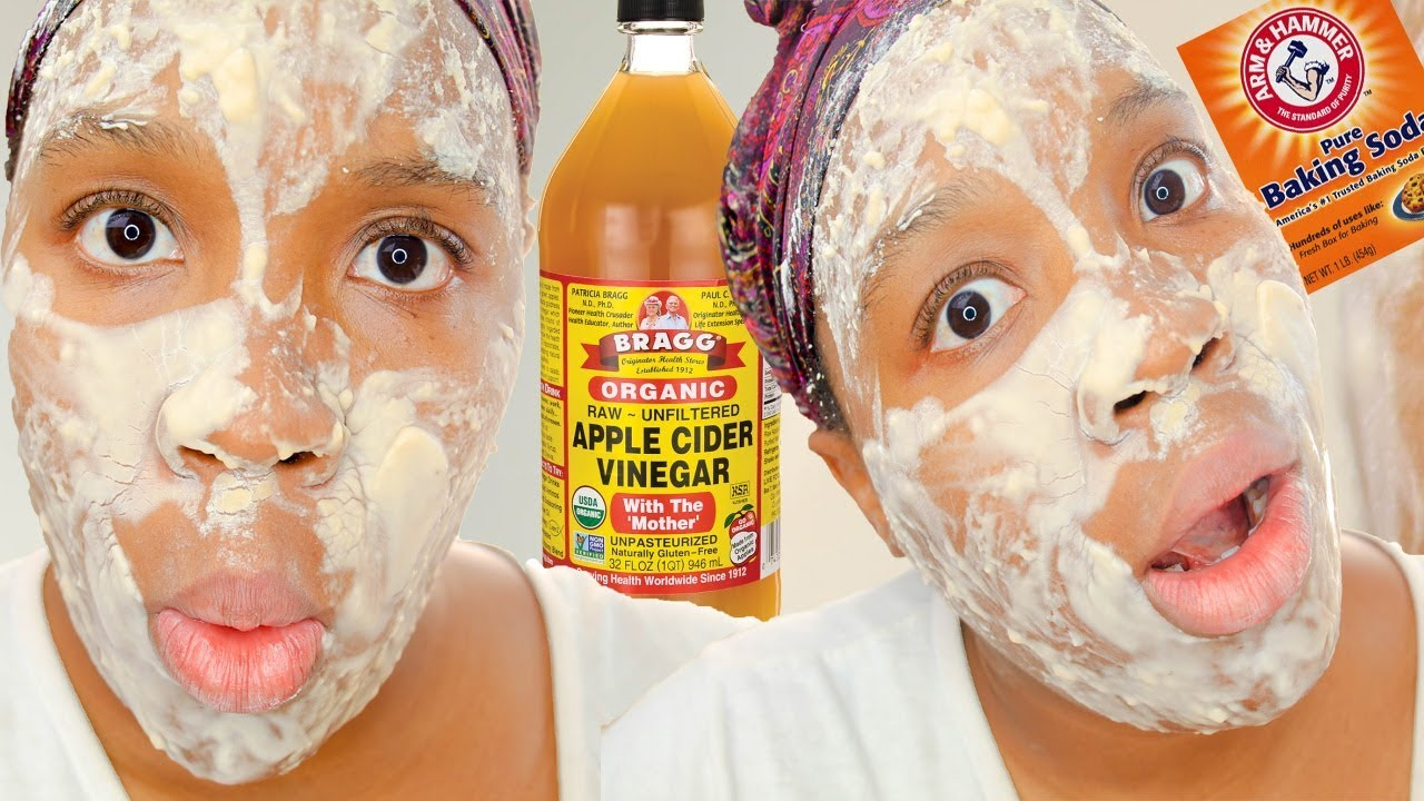 Baking Soda Face Mask for DARK SPOTS! Apple Cider Vinegar and Baking Soda  Mask DIY! Skincare Hacks - YouTube