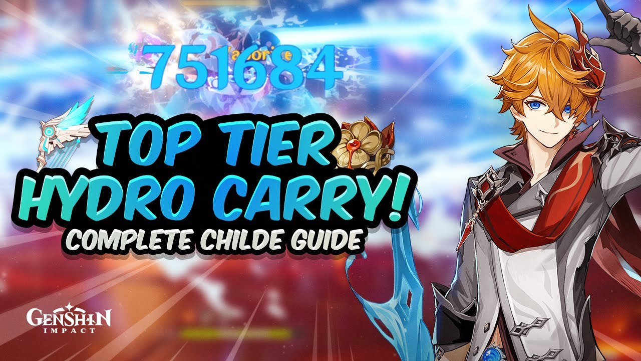 Hydro Tartaglia \u2022 Childe Genshin Impact | Double-Sided Tote Bag