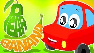 Fruits Song | Little Red Car | Cartoon Videos For Children