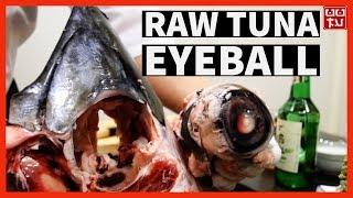 생 참치 눈알을 먹어 보았습니다 Eating Huge Tuna Eyeball Raw 압구정 맛집 매화 참치머리화