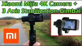 Xiaomi Mijia 4K Action Camera + Xiaomi 3 Axis Stabilization Gimbal