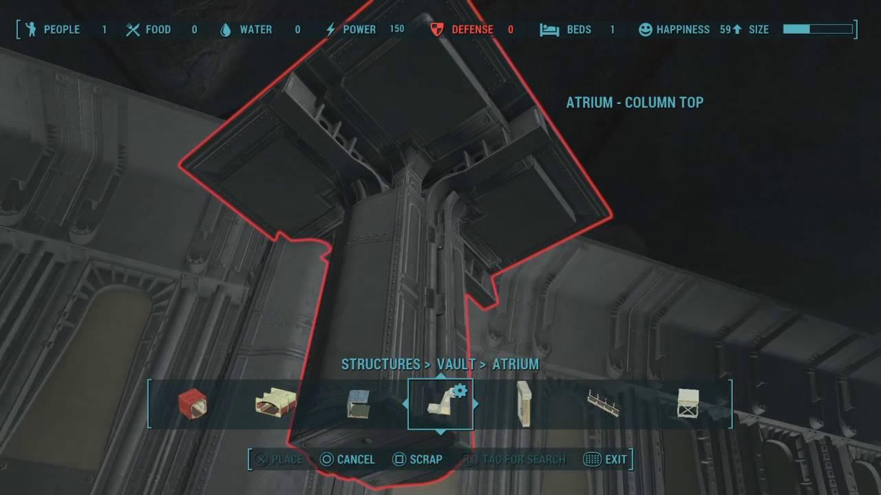 Fallout 4 Vault Tech Dlc Building Tip How To Build Extend Atrium Ceilings