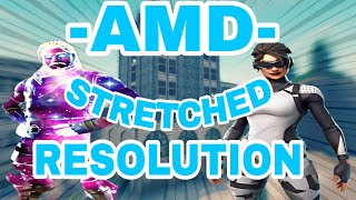 (AMD) Comment obtenir STRETCHED RESOLUTION à Fortnite! (FPS BOOST)