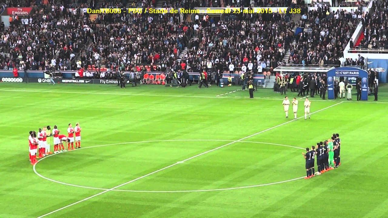 PSG / Reims 23.05.2015 : 3-2 (L1) 5/14 : Hommage à JL