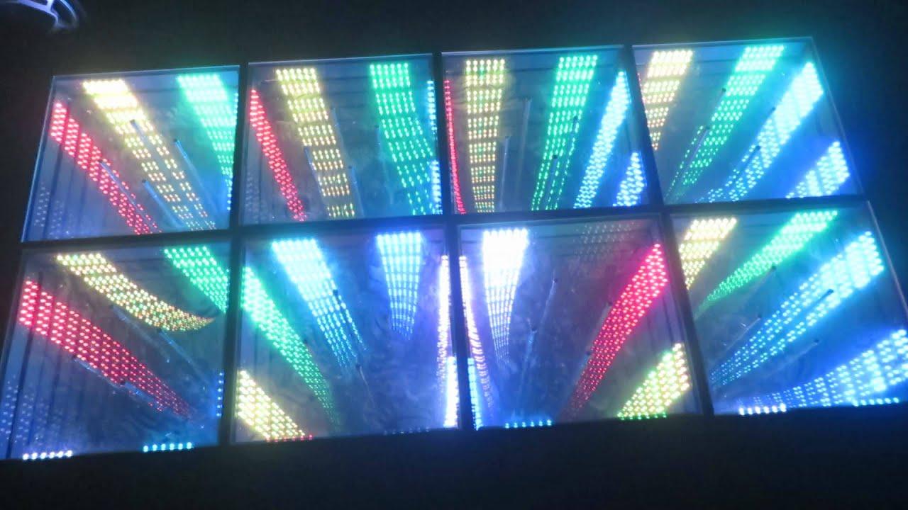 3D mirror led dance floor - YouTube