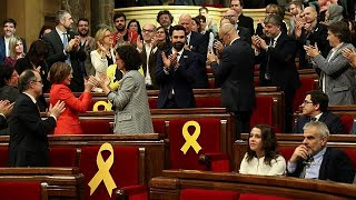 2018-01-17-14-18.Catalan-parliament-holds-first-meeting-voting-in-separatist-MP-as-speaker