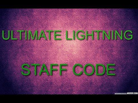 Ultimate Lightning Staff Code Ll Always Works Ll Black