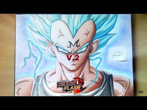 Super Smash Flash 2 | OWN SLOT Majin Vegeta | SSJ3 | SSJ Blue | MOD! (SSF2) {V.2}