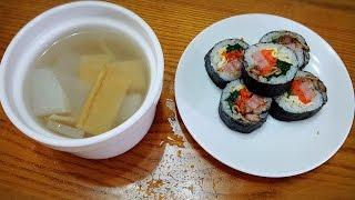 料理影片#13:韓國野餐必備菜色---紫菜飯卷김밥
