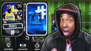 SHREDDING OPEN TRENDING PACKS FOR 96 LEBRON JAMES IN NBA LIVE MOBILE SEASON 4!!!