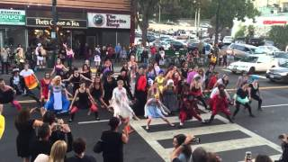 Thriller Flash Mob, Halloween 2015 - Lakeshore Ave., Oakland, CA