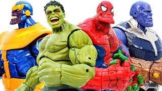 Hulk & SpiderHulk Avengers Superhero Transform Defeat Thanos Infinity War #Toymarvel