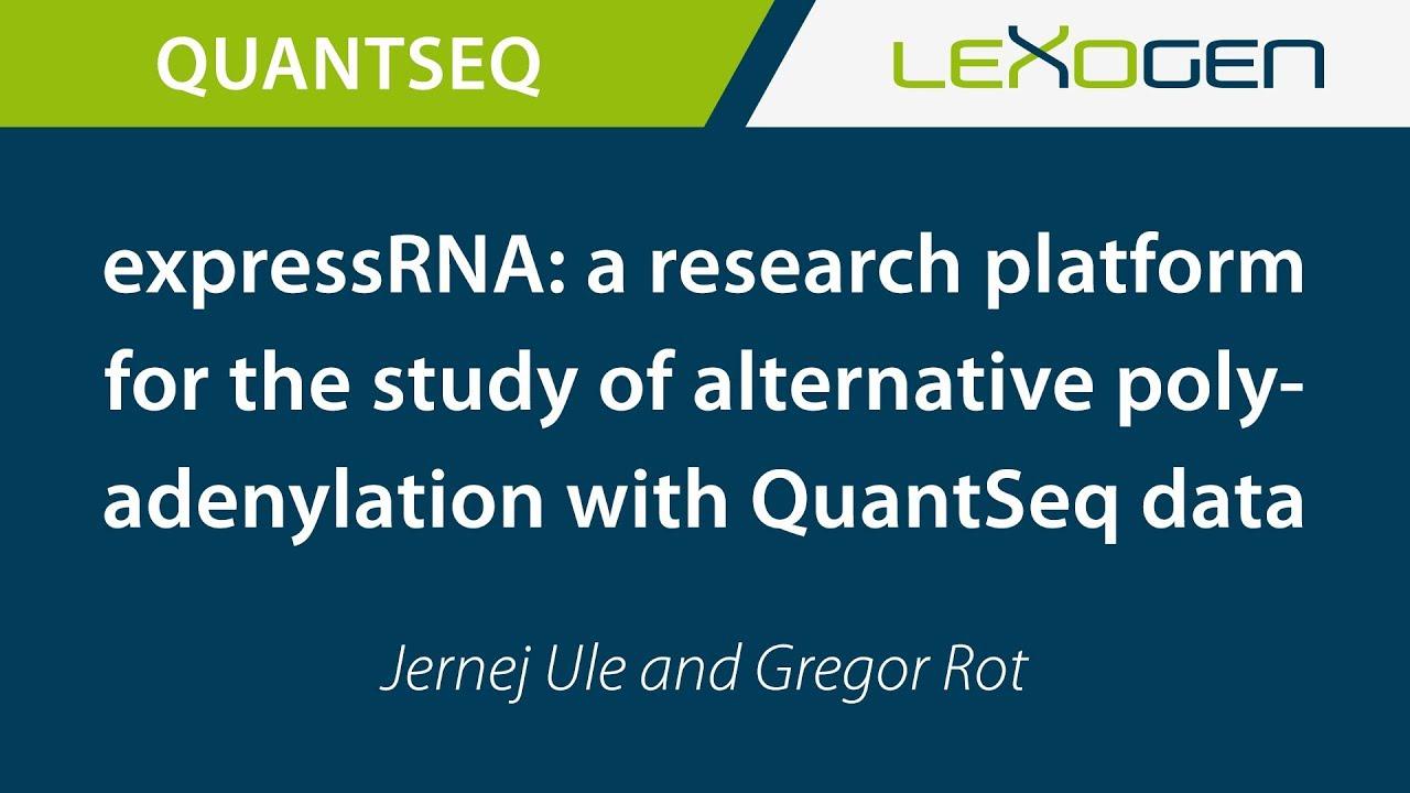 expressRNA: post-transcriptional research platform