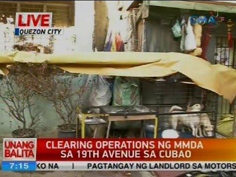 Clearing operations ng MMDA sa 20th Avenue sa Cubao