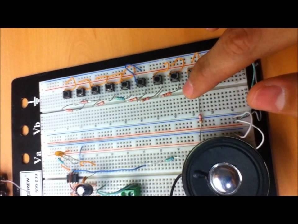 Circuito Integrado 555 : Proyecto piano electrónico con un ci ne youtube