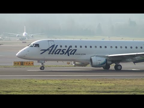 Alaska Airlines (Horizon Air) ERJ-175 [N622QX] Takeoff Portland Airport (PDX)
