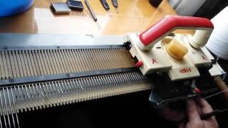 Вязание на вязальной машине Нева 5 Урок № 1