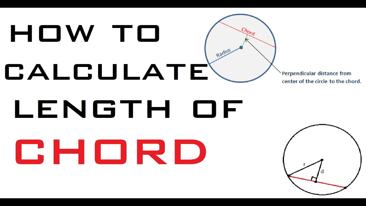 How to calculate length of chord for circle youtube how to calculate length of chord for circle hexwebz Gallery