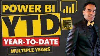 Power BI عرض السنة حتى تاريخه (حتى تاريخه) عبر عدة سنوات